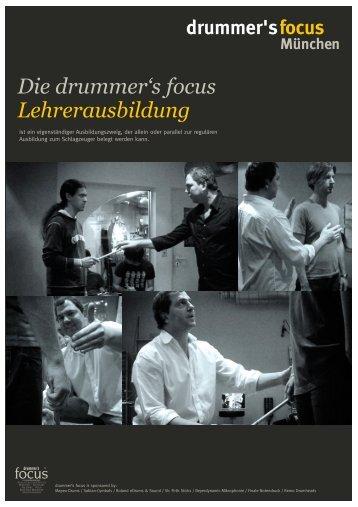 Die drummer's focus Lehrerausbildung - drummer´s focus