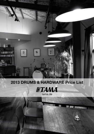 2013 DRUMS & HARDWARE Price List - Drums Only
