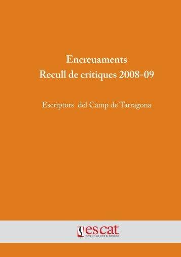 Descarrega el llibre en PDF - Escriptors del camp de Tarragona