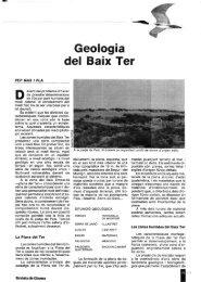Geología del Baix Ter - Raco