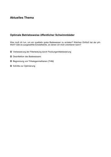 Optimale Betriebsweise öffentlicher Schwimmbäder (PDF, 16 kB)