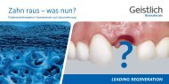 Zahn raus – was nun? - Dr. H. Zieger