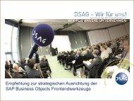 Empfehlung zur strategischen Ausrichtung der SAP ... - DSAG