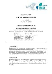 FSC – Waldbewirtschaftung - IMO