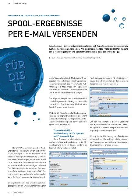 Spool Ergebnisse Per E Mail Versenden Dsag