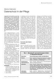 Datenschutz in der  Pflege - Externer Datenschutzbeauftragter