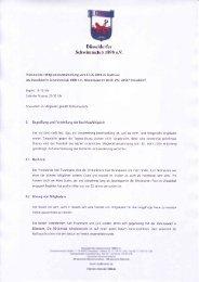 Protokoll JHV 2010 - Düsseldorfer Schwimmclub 1898 eV