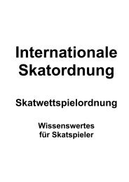 Die Internationale Skatordnung