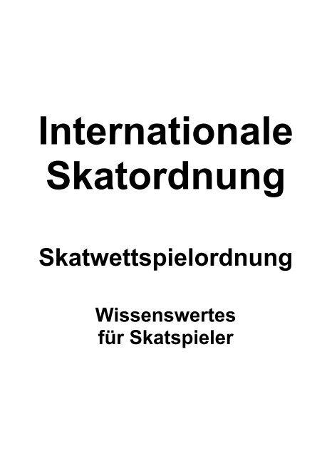 Die Internationale Skatordnung