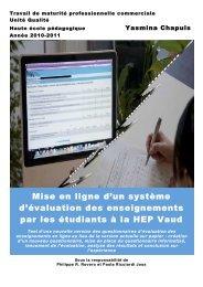 Yasmina CHAPUIS (PDF - 6504 Ko) - HEP Vaud
