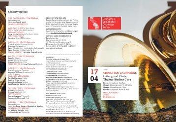 Download Programmheft - Deutsches Symphonie Orchester Berlin