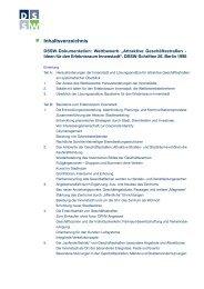 Inhaltsverzeichnis - DSSW