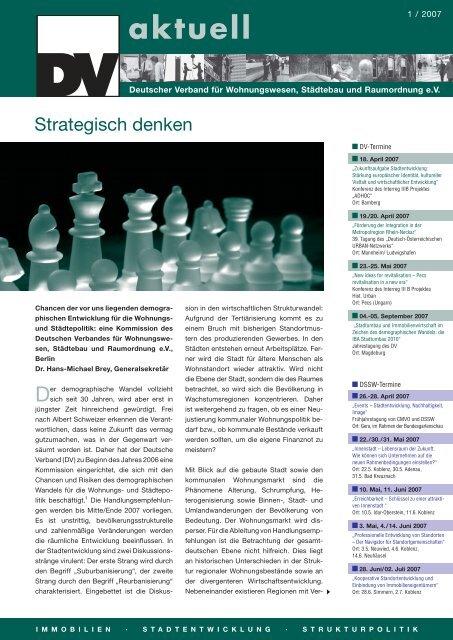 DV aktuell 01/07.indd - DSSW