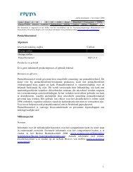 Pentachlooranisol Algemeen Overzicht indeling stoffen CAS ... - Rivm