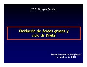 BOxidacion y krebs.pdf - Biología Celular
