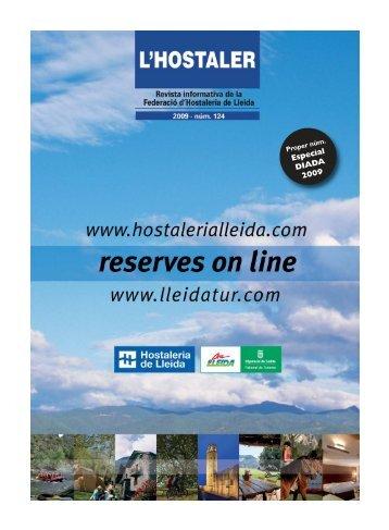 HOSTALER 124:Maquetación 2 - Federació d'Hostaleria de Lleida