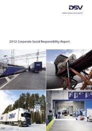 2012 CSR report - DSV