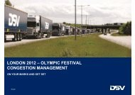 london 2012 – olympic festival congestion management - DSV