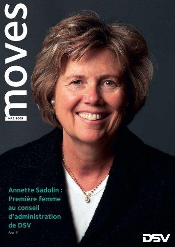 Annette Sadolin : Première femme au conseil d'administration de DSV