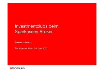 Investmentclubs beim Sparkassen Broker - DSW