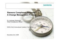 Siemens Compliance Program – A Change Management ... - DSW
