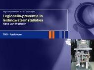 Legionella-preventie in leidingwaterinstallaties - TNO
