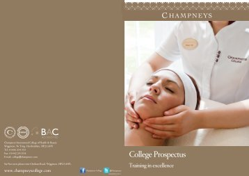 Download acopy of Champneys College prospectus