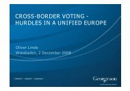 cross-border voting - hurdles in a unified europe - DSW