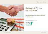 Kundenurteil: Fairness von Ratenkrediten 2012 - DSW