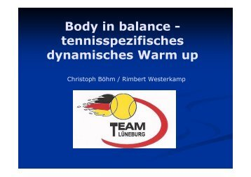 Body in balance - Deutscher Tennis Bund