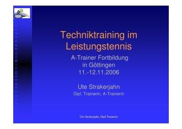 Techniktraining im Leistungstennis