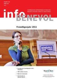 Infobenevol 1/11 «freiwilligenjahr 2011 - Benevol Bern