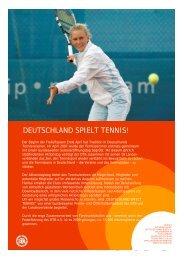 DEUTSCHLAND SPIELT TENNIS! - Deutscher Tennis Bund