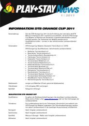 information dtb orange cup 2011 - Deutscher Tennis Bund