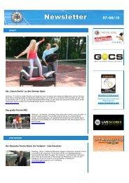 Newsletter Ausgabe 07-08/2010 - Deutscher Tennis Bund