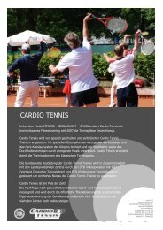 CARDIO TENNIS - Deutscher Tennis Bund