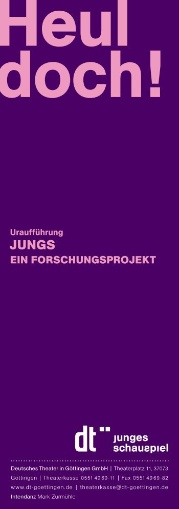 Download PDF (63 kB) - Deutsches Theater in Göttingen