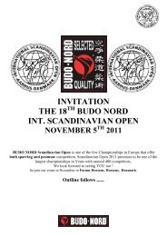 INVITATION THE 18 BUDO NORD INT. SCANDINAVIAN OPEN