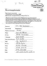 Informationen - Deutscher Tennis Bund
