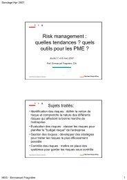 Risk management : quelles tendances ? quels outils pour les PME ?