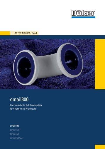 TE_E800 Prospekt Stand 01_09 klein - Düker GmbH & Co KGaA