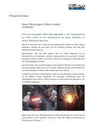 Presseinformation Neue Ofenanlage im Werk Laufach in Betrieb!