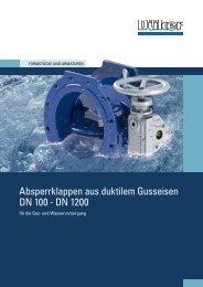 Absperrklappen - Düker GmbH & Co KGaA