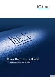 Image brochure - Düker GmbH & Co KGaA