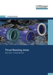 Survey of Thrust-Resisting Joints - Düker GmbH & Co KGaA