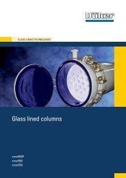 Glass lined columns - Düker GmbH & Co KGaA