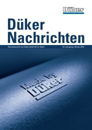 Düker Nachrichten Winter 2012 - Düker GmbH & Co KGaA