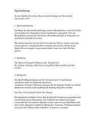 Spielordnung - Düsseldorfer Turnverein von 1847 eV