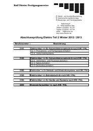 Abschlussprüfung Elektro Teil 2 Winter 2012 / 2013 - Ralf Düvier