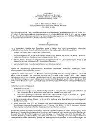 Beihilfenverordnung - BVO - Duisburg